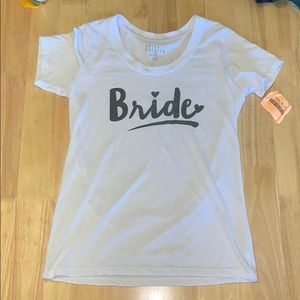 Love and cherish bride short sleeve shirts